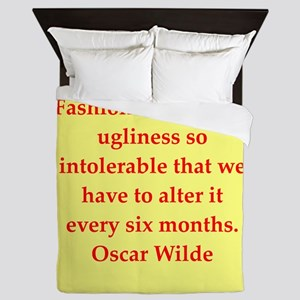 oscar wilde quote Queen Duvet